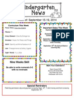 Newsletter September 15-19[1]