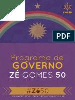 Programa de Governo - Zé Gomes 50