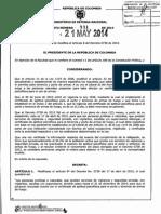 Decreto 931 Del 21 de Mayo de 2014_plazo Pruebas