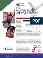 2014 Military Family Lifestyle Survey Snapshot
