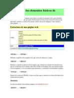 Manual Con Los Elementos Básicos de HTML