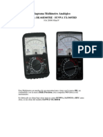 Diagrama Multímetro Analógico BK B360TRE-Sunwa YX360TREB