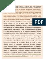 Primer Congreso Internacional de Folklore