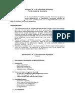 Temario Metodologia de La Investigacion Filosofica