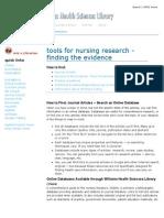 Tools for Nursing Research & EBP