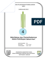 RPP KURIKULUM 2013 SMP  IPA KELAS 8 SEMESTER 1 Bab4-Sifat Bahan