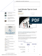 Last Minute Tips to Crack CMAT _ CareerAnna