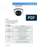 IP Camera TTB IPC32310P Specification-ttb Vision Co.,Ltd-www.ttbvision.com