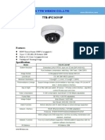 IP Camera TTB IPC34310P Specification-ttb Vision Co.,Ltd-www.ttbvision.com