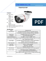IP Camera TTB IPC62110P Specification-ttb Vision Co.,Ltd-www.ttbvision.com