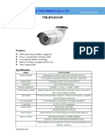 IP Camera TTB IPC62210P Specification-ttb Vision Co.,Ltd-www.ttbvision.com