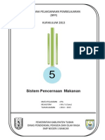 RPP KURIKULUM 2013 SMP  IPA KELAS 8 SEMESTER 1  Bab5-Sistem Pencernaan
