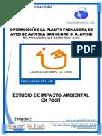 EsIA Expost Planta Faenadora AVISID