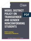 Model District Policy on Transgender and Gender Nonconforming Students