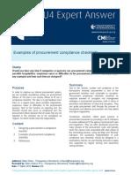 Procurement Compliance Checklists