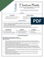 charlessa smith resume profile - pdf