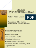 5 Dysfunctions of Team