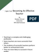 Tips for Becoming an Effective Teacher