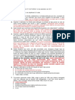 GABARITO Prova Penal II P1 NOTURNO 14 de Setembro de 2011