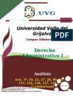 Derecho Administrativo -Analisis de Arts Consitucionales