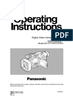 Panasonic AG-DVX100A Camcorder Manual