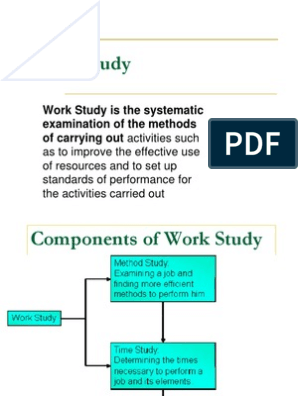 pdf work method study study and