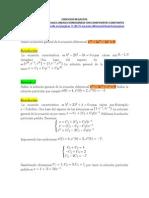Ejercicios Resueltos de Ecuaciones Diferenciales Lineales Con Coheficientes Constantes