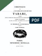 Chronique de Tabari Tome 1