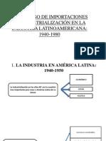 2. Proceso de Importaciones de Industrialización en La