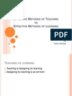 learning vs teaching method