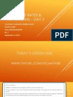 Lesson #4 - Ratio Language & Equivalent Ratios