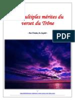 Les Multiples Merites Du Verset Du Trone