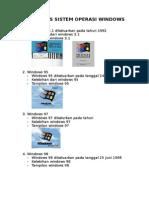 Jenis Operasi Windows x6
