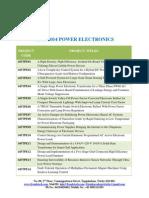 Ieee 2014 Power Electronics