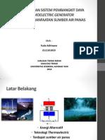 Perancangan Sistem Pembangkit Daya Thermoelectric Generator