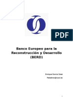 Banco Europeo para la reconstrucción y desarrollo