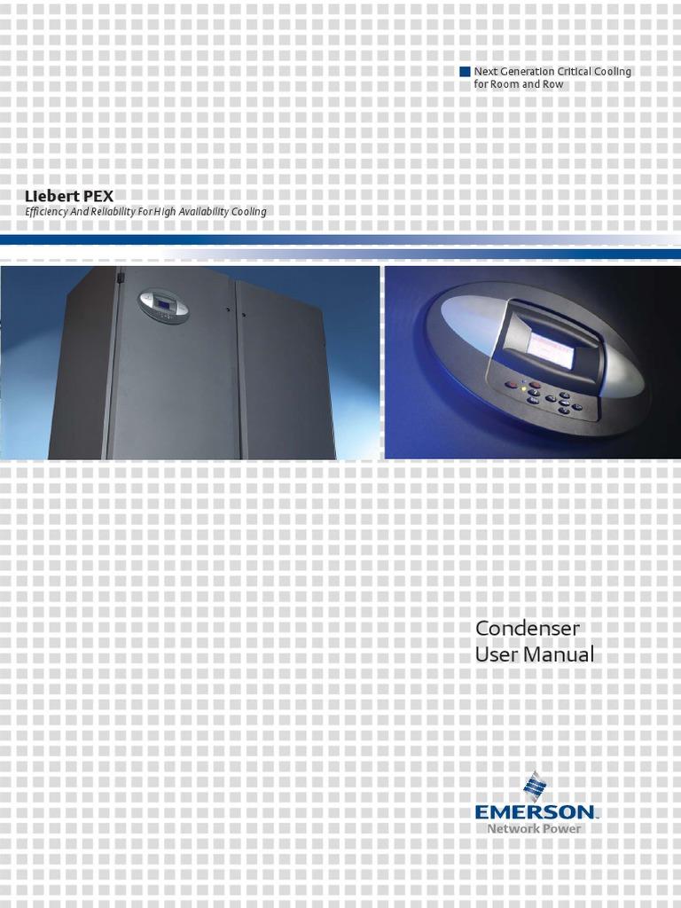 Liebert Pex Condenser User Manual Ap11ent Pexcondenserv1 Um Heat Genesis Vertical Lift Wiring Diagram Exchanger Menu Computing