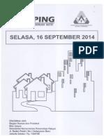 Kliping Berita Perumahan Rakyat, 16 September 2014