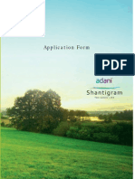 Shantigram Meadows Application form