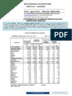 Lalimpul 015 Indice Regional de Siembras Ago 2014 Jul 2014