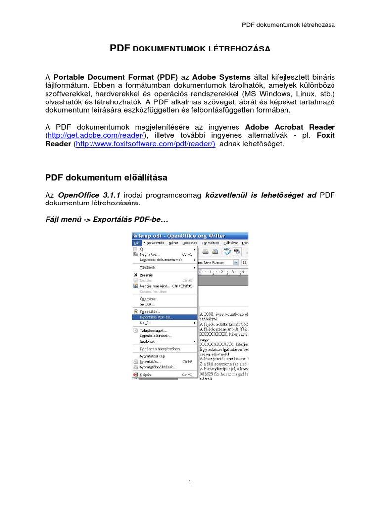 pdf bináris lehetőségek)