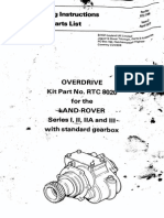 Overdrive for Landrover series I, II, III
