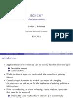 Microeconometrics Lecture Notes