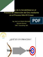 Reduccion de La Variabilidad Del Proceso II Congreso Inernacional Metalurgia