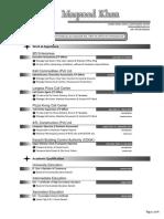 MAXoood Khan Curriculum Vitae 2014