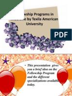Fellowship Programs in Medicine by Texila American University