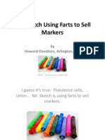 Howard Davidson Arlington Massachusetts - Mr. Sketch Using Farts to Sell Markers