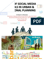 Use of Social Media Tools in Urban & Regional Planning - So