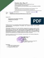 Surat Pengantar Pengumuman Kelulusan PLPG Gel Ke-3 Tahun 2014