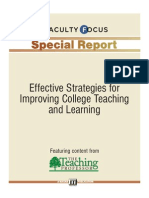 Effective Strategies Improve Teach and Learn